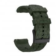 24mm Silicone Wrist Strap Replacement for Suunto 9 Baro - Army Green