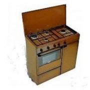 Bompani BI961YA/L cucina a gas , forno a gas, estetica coppertone, di 85x45 cm