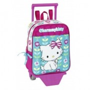 Mini-ghiozdan trolley gradinita colectia Charmmy Kitty Flowers 2