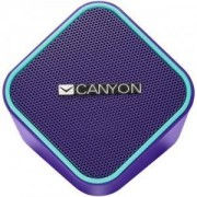 Тонколона Canyon wired stereo Speaker, 1.2m cable with USB2.0 & 3.5mm audio connector, purple(blue stripe), 65*65*75mm, 0.252kg. CNS-CSP203PU