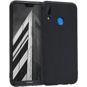 Protectie spate Senno Pure Flex Slim Mate TPU pentru Huawei P20 Lite (Negru)