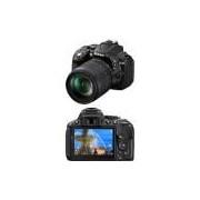 Câmera Digital DSLR Nikon D5300 sensor CMOS DX 24.2MP 18-55mm Preta