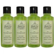 Khadi Pure Herbal Neem Aloevera Shampoo SLS-Paraben Free - 210ml (Set of 4)