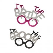 Party Theme I M Bride I M Groom Goggles Set Combo-Perfect Accessory for Parties and Celebration