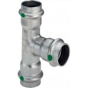Viega Sanpress Inox T-Stück 435974 28x22x28mm, Stahl nichtrostend, SC-Contur