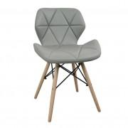 Milani Home NAOMIE - sedia moderna in ecopelle e legno