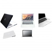 Case Carcasa + Protector De Teclado / Puertos / Pantalla / Trackpad Para Macbook Air 11'' Model (A1370/A1465) -Negro Degradado