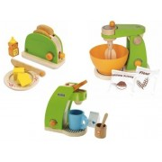Hape Pop Up Toaster, Coffee Maker & Mighty Mixer Set