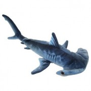 "Blue Printed Hammerhead Shark Plush Toy 24"" L"
