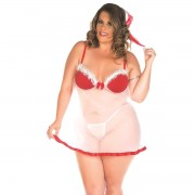 Camisola Mamãe Noel Plus Size Pimenta Sexy - ShopSensual