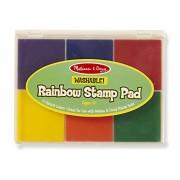 Melissa & Doug Rainbow 6 Color Stamp Pad,Multicolor