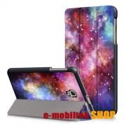 Notesz tok,SAMSUNG SM-T380 Galaxy Tab A 8.0 (2017) / SAMSUNG SM-T385 Galaxy Tab A 8.0 (2017) (4G/LTE),Galaxis mintás
