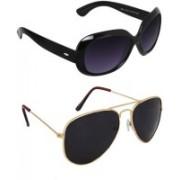 Joe Louis Aviator, Wayfarer Sunglasses(Multicolor)