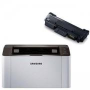Лазерен принтер Samsung SL-M2026 A4 Mono Laser Printer 20pp - SL-M2026/SEE + Съвместима КАСЕТА ЗА SAMSUNG MLT-D111S