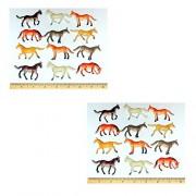 ~24~ Horses Horse Figures Toys ~ Hard Plastic 2.5 Inch~ NEW