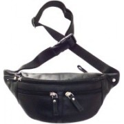 Style 98 Style 98 Black Genuine Leather Waist Bag For Men Waist Bag(Black)