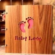 ELECTROPRIME® Wedding Big Wooden DIY Adsive Black Card Photo Scrapbook Album Photos #1