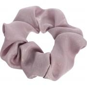 Roze srunchie satijn look