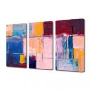 Tablou Canvas Premium Abstract Multicolor Grafic Colorat Decoratiuni Moderne pentru Casa 3 x 70 x 100 cm