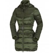 NORTHFINDER PRIJANA Dámský kabát EXTRA SIZE BU-46841SP300 tmavě zelená XS