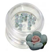 Flori albastre-desch din material ceramic pt. NailArt – 3 mm- 04