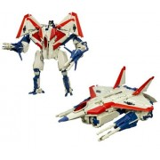 Hasbro Year 2007 Transformers Automorph Technology Movie Series Voyager Class 8 Inch Tall Robot Action Figure - Decepticon STARSCREAM with Exclusive G1 Deco Missile Launchers and 6 Missiles (Vehicle Mode : F-22 Raptor Jet)