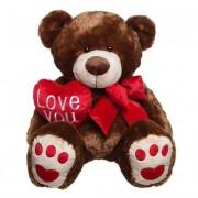 Giant Brown 5 Feet Love You Heart Teddy Bear