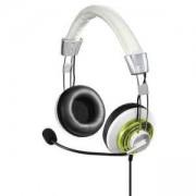 Слушалки с микрофон HAMA Style, USB, Бял/Лимон, HAMA-139910