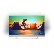 Philips 55 UHD, DVB-T2/C/S2, Android TV, Ambilight 3, HDR Premium, WCGM pannel 85%, Premium colors, Pixel Plus UHD, Quad core, 1300 PPI, 16 GB Internal memory, expandable, RC Keyboard, Micro Dimming Pro, DTS Premium Sound, 25W, Soundbar, Silver