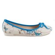 VICES Modré balerínky s květy 37