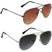 Voyage Aviator Sunglasses(Brown, Black, Grey)