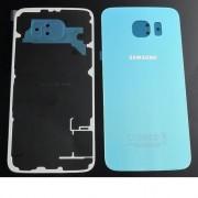 Tampa traseira em vidro p/ Samsung S6 G920F Azul Marinho