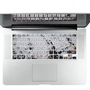 Litop Marble Series Silicone Keyboard Cover Keyboard Skin for All MacBook Air 13 MacBook Pro with Retina Display 13 15