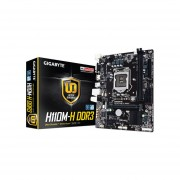 T. Madre Gigabyte H110M-H DDR3, ChipSet Intel H110, Soporta, Intel Core i7/Core i5/Core i3/Pentium/Celeron de Socket 1151, Memoria, DDR3 1600/1333 MHz, 32GB Max, SATA 3.0, USB 3.0, Integrado, Audio HD, Red Gigabit, Micro-ATX. GA-H110M-H DDR3