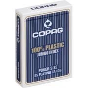 Plastic speelkaarten Blauw Jumbo Index - Copag