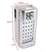 Lanterna multifunctionala 4 in 1 cu Radio FM si USB GD 1111