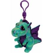 Jucarie Plus cu Breloc 8.5 cm Beanie Boos Cinder green dragon TY