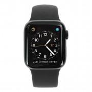 Apple Watch Series 4 - caja de acero inoxidable en negro 40mm - correa deportiva negra (GPS+Cellular) refurbished