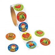 "1 Roll ~ I Love Camp / Camping Stickers ~ 100 Round 1.5"" Paper Stickers Total ~ New / Shrink-wrapped"
