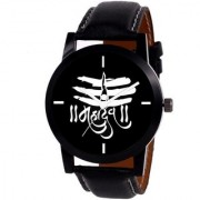 TRUE CHOICE TC 031 BLACK DAIL BLACK BEALT WATCH FOR MEN BOYS.