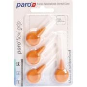 Periuta interdentara Paro Flexi Grip x-fine, portocaliu, conice, Ø 1.9-5.0 mm, 4 buc #1079
