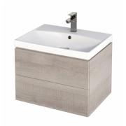 Dulap de baie stejar Cersanit City pentru lavoar CITY / COMO / COLOUR / NATURE / ONTARIO / AMAO / ZURO 60 cm Cersanit,