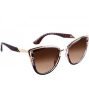 TRUE INDIAN Cat-eye Sunglasses(Brown)