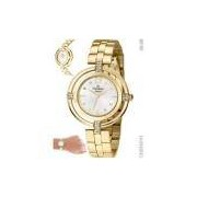 Relógio Champion Feminino Elegance Dourado Cn25421h