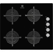 TRANSPORT GRATUIT - Plita incorporabila Electrolux EGT6142NOK, gaz pe sticla, 4 arzatoare, negru