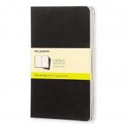 Moleskine Cahier Set de 3 Cuadernos 80 Páginas Lisas Negro