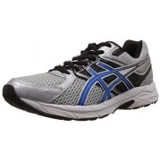 Asics Men's Gel-Contend 3 Silver, Electric Blue and Black Mesh Running Shoes - 7 UK