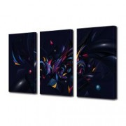 Tablou Canvas Premium Abstract Multicolor Culori In Forme Neobisnuite Decoratiuni Moderne pentru Casa 3 x 70 x 100 cm