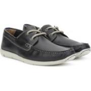 Clarks Karlock Step Navy Leather Boat Shoes For Men(Navy)
