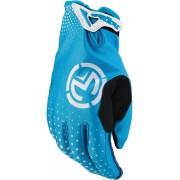 Moose Racing SX1 S20 Short Motocross Gloves Black Blue 3XL